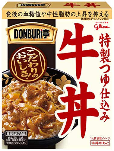 江崎グリコ DONBURI亭 牛丼 機能性表示食品 160g ×10個