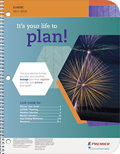 Premier Classic Middle School Student Planner, 8 x 10 Inches, 2017 to 2018