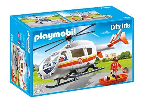PLAYMOBIL 6686 - City Live Rettungshubschrauber, Mehrfarbig