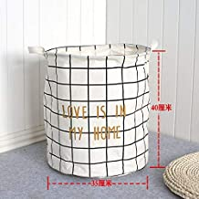 DSHUJC Laundry Basket Cotton Linen Dirty Clothes Basket Toys Debris Snack Storage Basket, White Box 35 * 40Cm