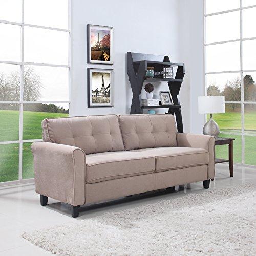 Divano Roma Furniture Classic Sofas, Hazelnut