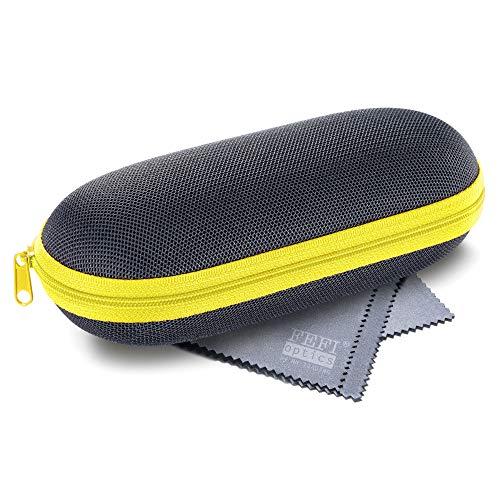 FEFI - Leichtes Hardcase Brillenetui - Sport- und Sonnenbrillen Etui gelb