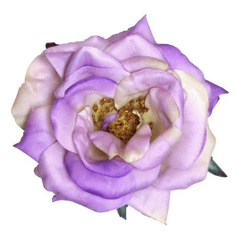 Julia Rose Artificial Flower Hair Clip/Pin Brooch, Lavender