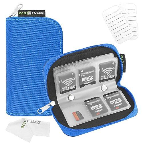 Eco-Fused Estuche para Tarjetas de Memoria SDHC y SD - MV (1 Paquete Azul)
