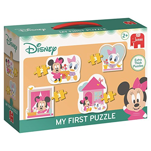 Jumbo Disney My First Puzzle - Minnie 2/3/3/4 pcs - Rompecabezas (Rompecabezas de Figuras, Dibujos, Niños, Chica, 2 año(s), Interior)