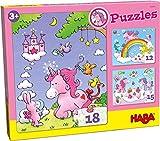 Haba-300299 Puzzles Unicornio Destello Puzle Infantil, Multicolor (300299)