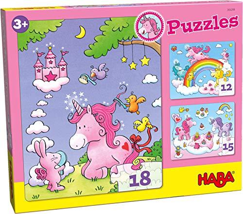 HABA- Puzzles Licornes dans Les Nuages, 300299
