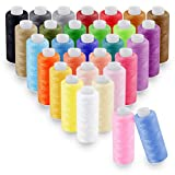 SOLEDI Kit de Costura 30 Hilo de Coser,16 Agujas de Coser y 2 Costuras de enhebrado adecuadas para Coser a Mano y Coser a máquina para Coser Ropa - Acolchado - Bordado - Costura