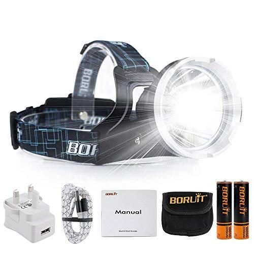 DEL Super Bright Serre-tête lampe de travail Head Band rechargeable Lumière Mining