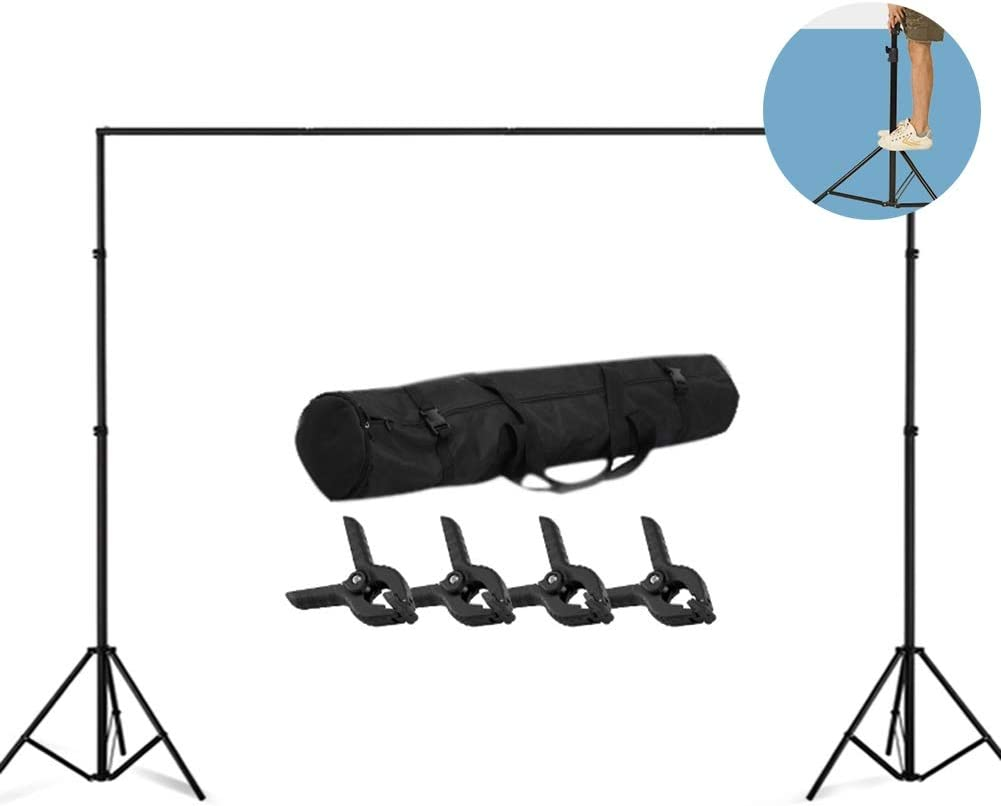 Mobile Studio Suitable for Advertising Shooting in 6 Sizes YYFANG Adjustable Photography Background Support System Telescopic Portable BackdropBackground Backdrop Stand