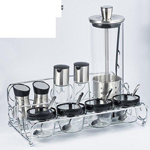 MYITIAN Verdikte glazen kisten kruiden in de keuken smaak apotheek glas set keuken opslag set Spice glas set lekfles azijn pot lekvrije fles azijn potten keuken opslag set L