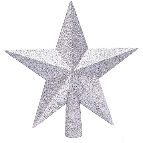 MELARQT Glitter Christmas Tree Topper Shatter-proof Christmas Tree Star Treetop for Any Size Christmas Tree