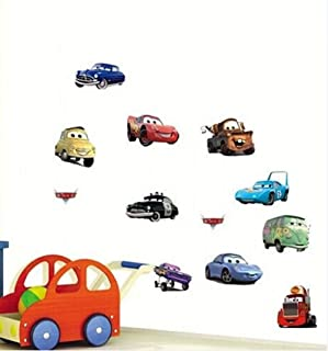 Wall Decal Sticker Cars Walt Disney Pixar Kids Bedroom and Kindergarten Mural Home Decor DIY Plastic Self adhesive Removable Small