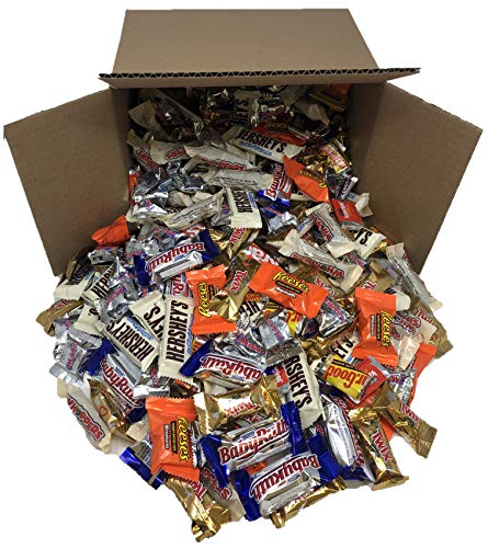 Taboom Bulk Chocolate, Individually Wrapped: 5 LB Box Variety Pack with M&M, Musketeers, Milky Way, Twix, Snickers, 100 Grand, Almond Joy. Baby Ruth and Whoppers