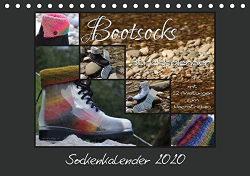 Sockenkalender Bootsocks 2020 (Tischkalender 2020 DIN A5 quer): Strickkalender mit 12 Anleitungen für Bootsocks (Monatskalender, 14 Seiten ) (CALVENDO Hobbys)