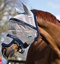 Horseware Ireland Rambo Plus Flymask, Silver/Navy, Pony