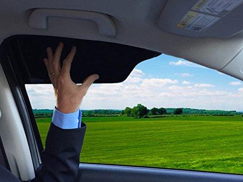TuckVisor BLACKOUT Windshield Sunshade Car Sun Window Shade Visor Shades Sunshade Visors Extender 4 Pack