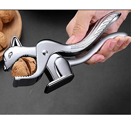 QINAIDI Nussplätzchen-Werkzeug, Eichhörnchen-Nussknacker, gefederter Nussknacker, Legierungs-Öffner-Küchen-Zange