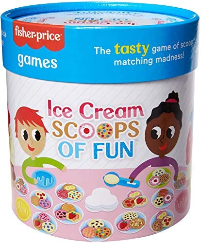 Ice Cream Scoops of Fun Kids Fisher Price Board Game with Cards Cups Ice Cream Scooper Spinner product image