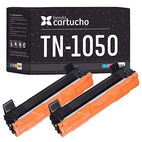 Pack 2 Toner Brother TN1050 Compatible 1000 copias - para Brother DCP-1510,DCP-1512,DCP-1610W,DCP-1612W,HL-1110,HL-1112,HL-1210W,HL-1212W,MFC-1810,MFC-1910,MFC-1910W