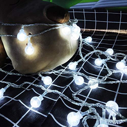 CFLFDC lichtketting, kleurlamp, LED, 10 m, 100 bellenlampen, lamp, ketting, vlak, standaard, 220 V, wit