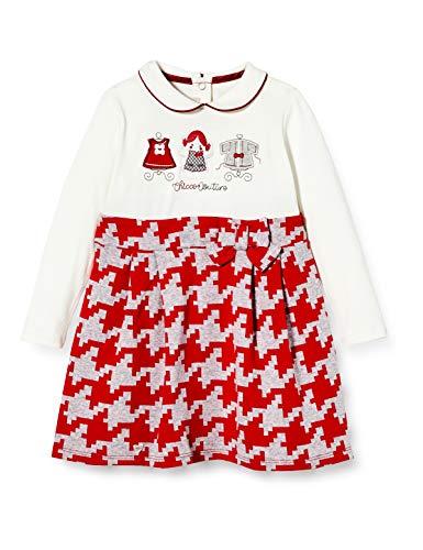 Chicco Abito Manica Lunga Vestito, Rosso e Bianco, 068 Bimba