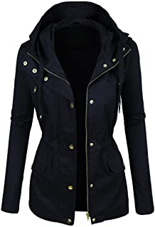 Hashoob Ladies Parka Jacket Women Cotton Casual Trench Coat PK-02