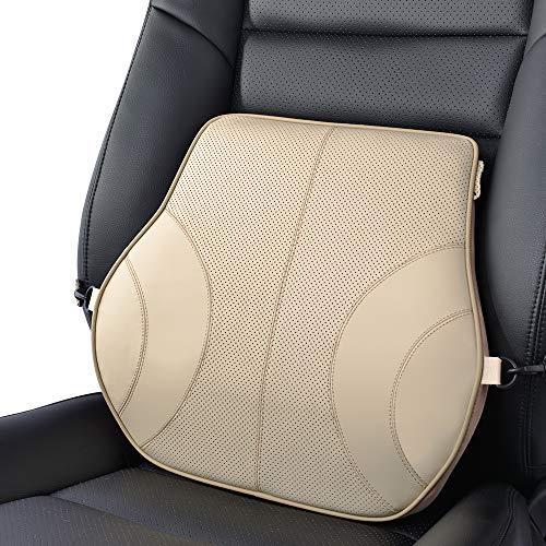 KOYOSO Rückenkissen Rücken-Kissen Lordosenstütze Lendenkissen für Auto Zuhause Büro - Beige