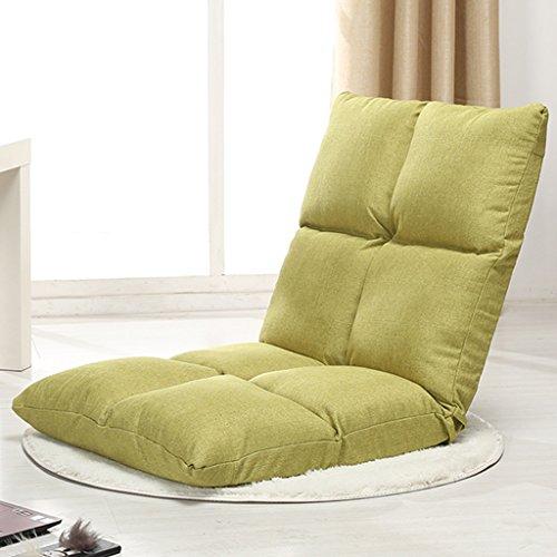 Fu Man Li Trading Company Canapé paresseux chambre simple baie vitrée lit amovible lavable pliable lit paresseux paresseux A+ ( Couleur : Vert )