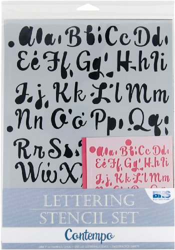 Blue Hills Studio Lettering Stencil 4 Piece Set-Contempo
