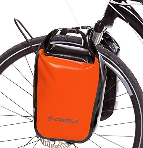 Crosso Unisex - Volwassenen Dry SMALL fietstas, oranje, 30 L