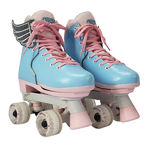 Circle Society Classic Adjustable Indoor and Outdoor Childrens Roller Skates - Classic Cotton Candy, 3-7 US