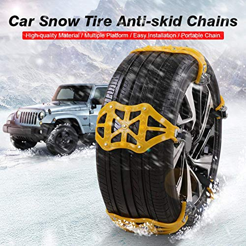 tanbea-UK Snow Chain Wheel Thickened Antiskid Car Tire Chain Magnificent Best Service