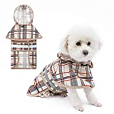 KOOLTAIL Dog Raincoat Hooded with Reflective Strip - Waterproof Dog Jumpsuit Raincoat Adjustable Lightweight Breathable Rain Poncho Jacket Rainwear for Small Medium Large Dogs - Small