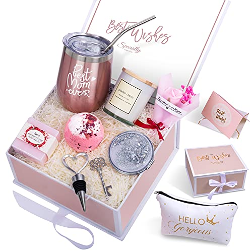 Gifts for Mom Birthday Gifts for Women,Mom,Best Mom,Mom to be,Pregnant Mom,Mama,Wife,New Mom Gifts for Women Mothers Day Gifts Mom Gifts Set Wine Tumbler Birthday Gifts for Mom from Daughter, Son