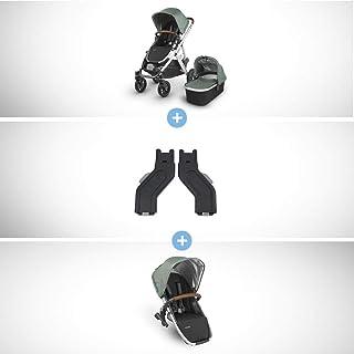 Vista Stroller+ RUMBLESEAT Bundle- Emmett (Green Melange/Silver/Saddle Leather)