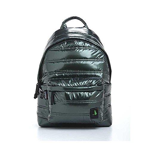 Mueslii - Unisex Rucksack aus metallisiertem Nylon, Grün - Emerald - Größe: 42x28x12