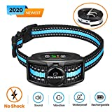 Focuspet Bark Collars Rechargeable, Anti Barking Dog Collar IPX7 Waterproof with Adjustable Sensitivity