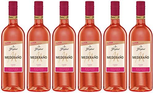 Mederaño Rosado Wein 1 l (6 x 1l) l Cuvée l  halbtrocken l fruchtig leicht l  für gemütliche Abende mit Freunden
