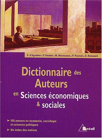Dictionnaire des auteurs en Sciences économiques & sociales