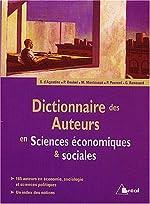 Dictionnaire des auteurs en Sciences économiques & sociales de Philippe Deubel