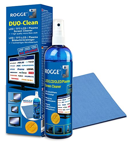 ROGGE DUO-Clean Original Grosspackungen (45er Pack) LCD-TFT-LED TV+Plasma Screen Cleaner.