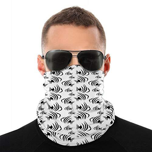 MSGDF Variedad Bufanda de cabeza Windbreak Face Cover 3D, monocromo abstracto subacuático Animalia Concept Minimalismo Inspiraciones Acuario, a prueba de polvo, viento bandanas calentador de cuello
