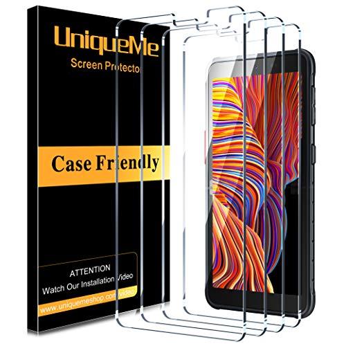[4Pack] UniqueMe Schutzfolie für Samsung Galaxy Xcover 5 Panzerglas,Folie für Samsung Galaxy Xcover 5 Panzerglasfolie,[Maximale Reichweite][Blasenfrei] HD Klar Gehärtetes Glas Schutzglas