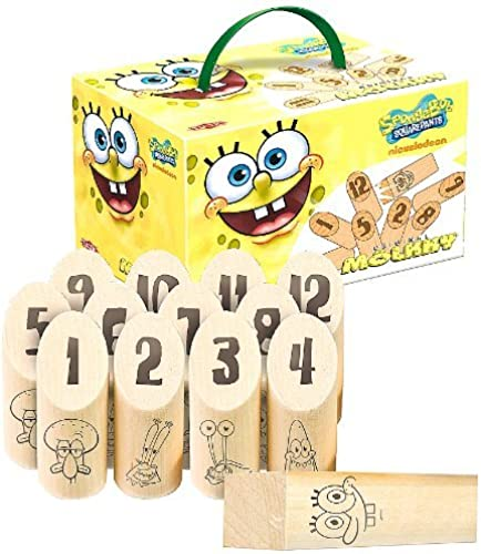 Tactic Games US SpongeBob SquarePants Molkky by Tactic Games US