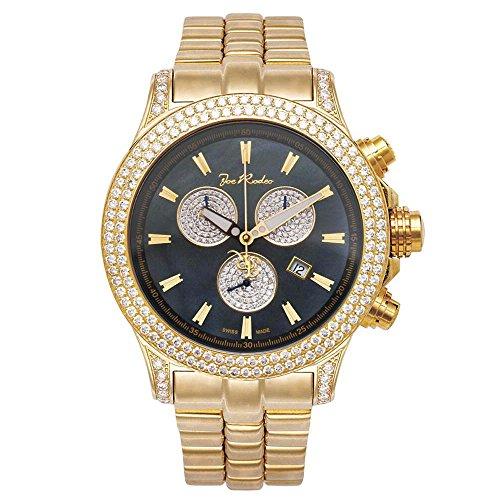 Joe Rodeo Diamond Reloj Hombre - Master Pilot Gold 7 ctw