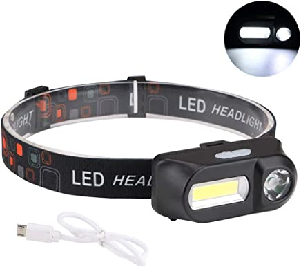 DaQingYuntur Rechargeable LED outdoor headlights, light carrying belt, 6 lighting modes, 2 independent buttons, to meet your different needs, suitable for indoor and outdoor outdoor multi-light lighti