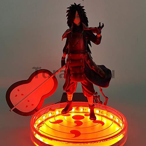 DADATU Figura De Acción Naruto Uchiha Madara Led Rinnegan Base 200Mm Naruto Shippuden Uchiwa Madara Figura De Colección Modelo Juguetes