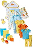 Luvable Friends Unisex Baby Layette Gift Cube, Yellow Bird, 0-6 Months
