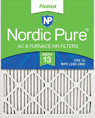 Nordic Pure 16x30x1 MERV 13 Pleated AC Furnace Air Filters 6...
